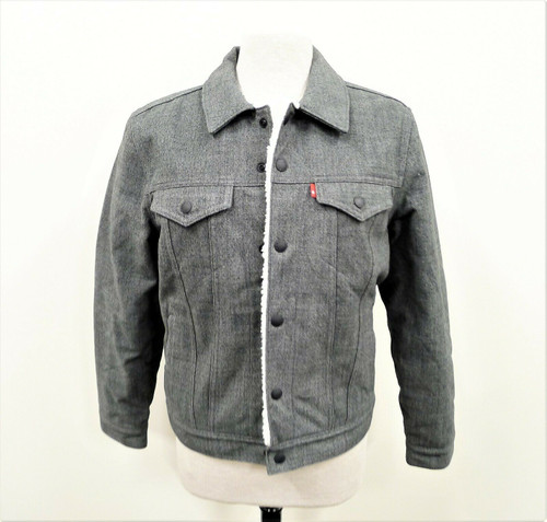 Levis Outerknown Men's Gray Sherpa Lined Trucker Jacket Size Small