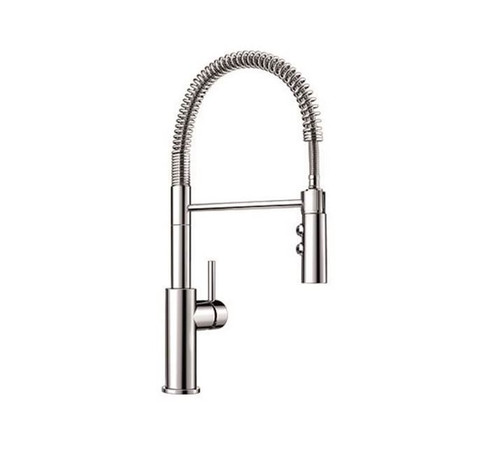 Blanco Kitchen Faucet Pull Down Dual Spray 1.5 Gpm in Chrome 401917 - OPEN BOX