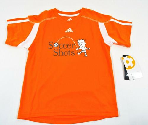 Adidas Childs Orange Soccer Shots T-Shirt Size Medium NWT