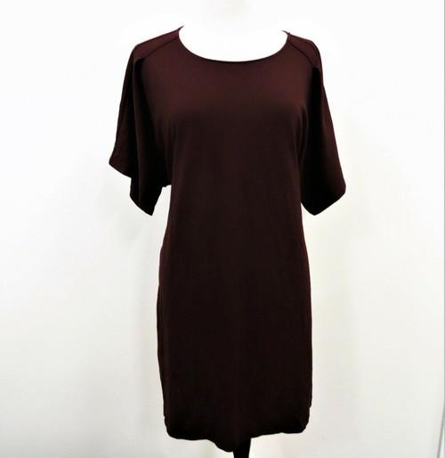 Express Women's Burgundy Tie Back Dress Size XL