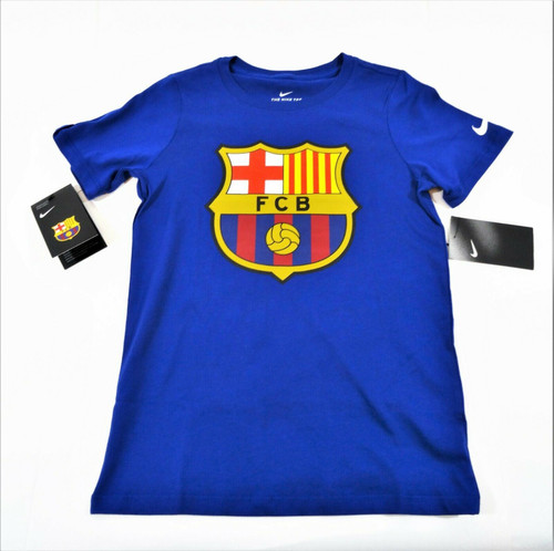 Nike Child's Blue Football Club of Barcelona (FCB) T-Shirt Size XS NWT