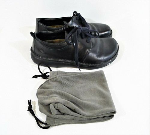 Footprints Birkenstock Women's Black Leather Lace Up Oxfords Shoes 37 (US 6.5-7)