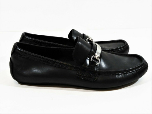 Cole Haan Men's Black Leather Driving Loafers Size 10.5