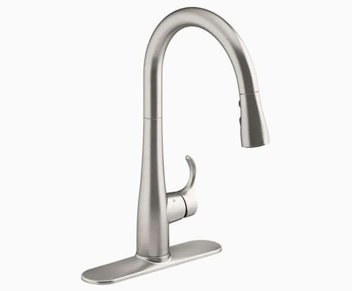 Kohler Simplice 1-Handle Deck-Mount High-Arc Touchless Kitchen Faucet Stainless
