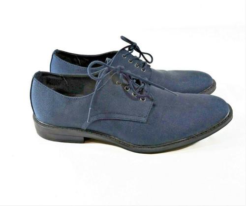 Calvin Klein Men's Blue Gabel Canvas Derby Dress Shoes Size 9.5