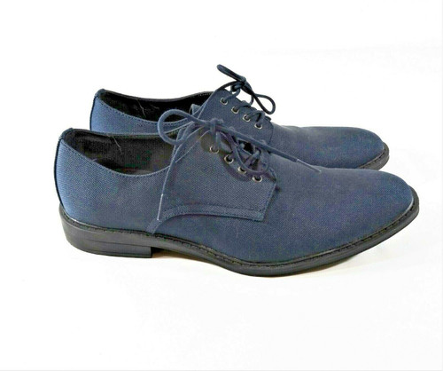 Calvin Klein Men's Blue Gabel Canvas Derby Dress Shoes Size 9.5