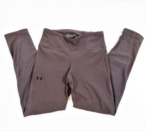 Under Armour Women's Plum Heat Gear Perforated Fitted Leggings Size Small