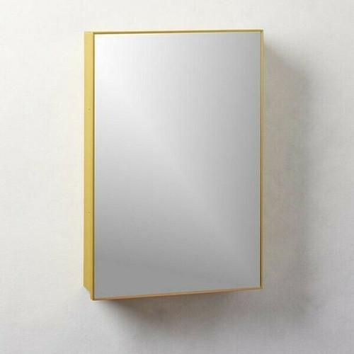 "CB2 Infinity Brass Medicine Cabinet 18"" x 27""  LOCAL PICKUP ONLY, AUSTIN TX"