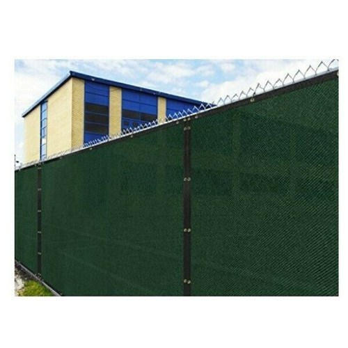 Windscreen4Less 6ft. x 50ft. Fence Screen in Green  OPEN PACKAGE
