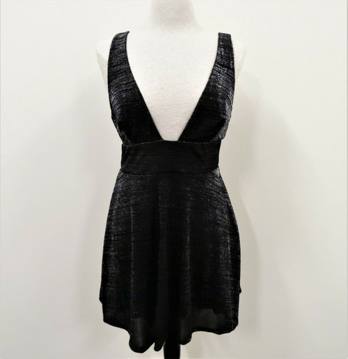 Urban Outfitters Women's Black Motif Metallic Mini Dress Size S *New With Tags*