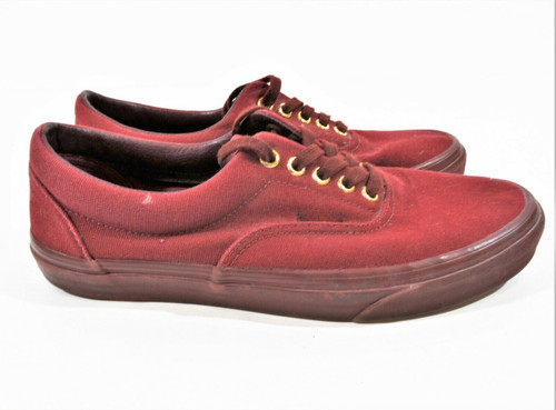 Van's Maroon Canvas Men's Sneakers Athletic Shoes Size 8.5