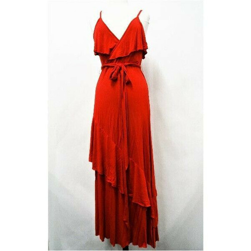Sofia Jeans by Sofia Vergara Women's Long Red Maxi Dress Size L *New With Tags*