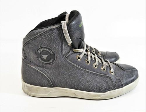 Stylemartin Chester Men's Urban Moto Skate Gray Leather Sneaker Boots Size 7.5