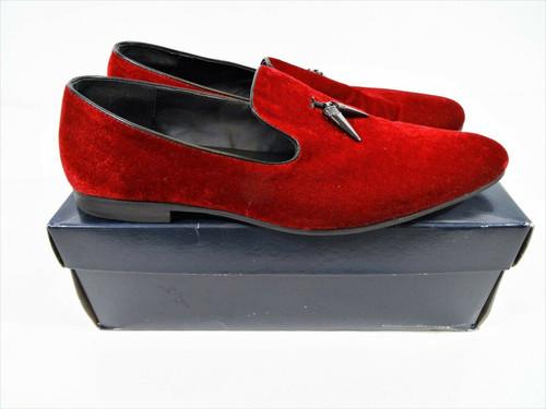 Giorgio Brutini Men's Cowell Red Velvet Smoking Slipper In Original Box Size 15