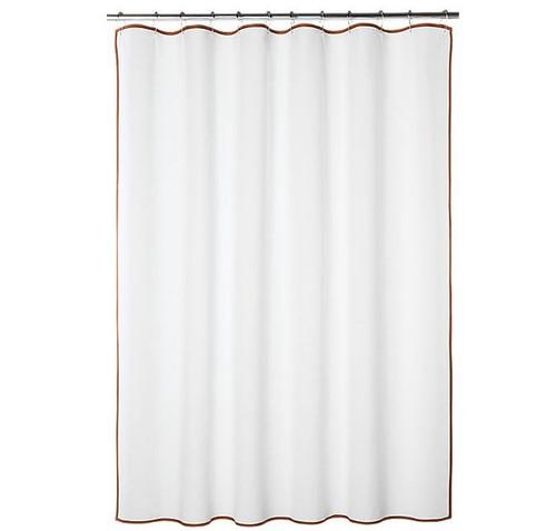 """CB2 Capri Copper Border Shower Curtain 72"""" W x 72"""" H 463-982"""