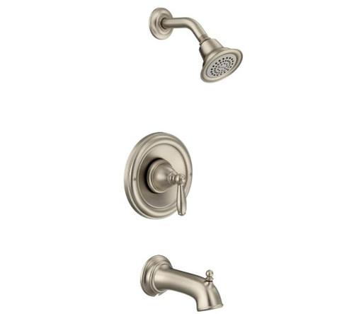 Moen Brantford Posi-Temp Single Handle Tub/Shower Trim Kit Only Brushed Nickel