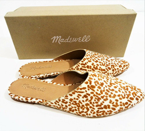 Madewell The Remi Mule In Spotted Calf Hair Size 7.5 *New In Box*