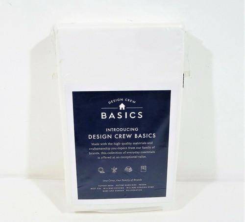 "Design Crew Basics White King Sham Cover Only 36"" L x 20"" W - NEW **NO PILLOW"