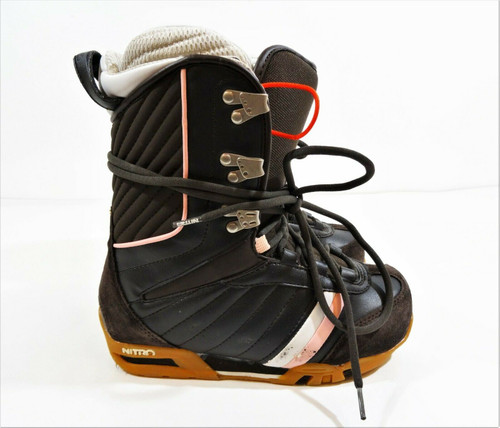 Nitro Rival Women's Snowboard Boots Brown & Pink Size 6.5 *Scuffed*