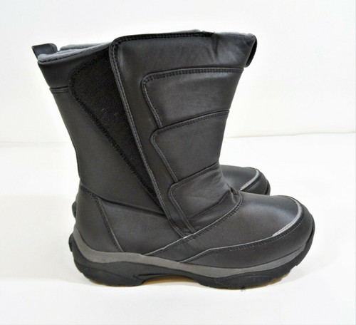 Lands End Adolescent Youth Snow Boots Black Size 6M