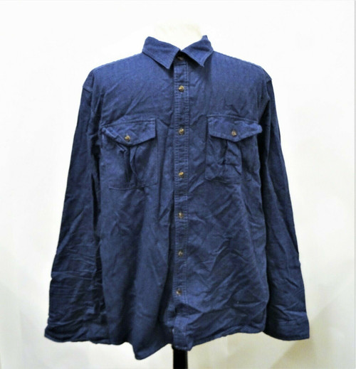 The North Face Men's Blue Flannel Button Down Shirt Size Extra Large