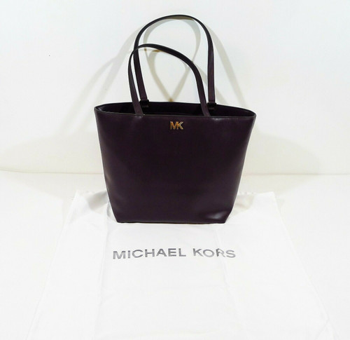 Michael Kors Plum MD Leather Tote and Dust Bag - NEW WITH TAGS
