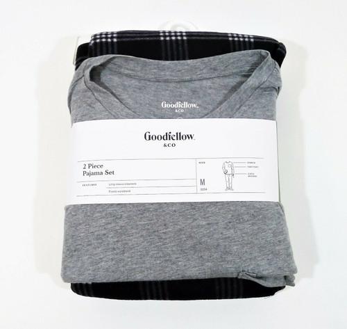 Goodfellow & Co Men's Gray/Black Microfleece Pajama Set Size M - NEW