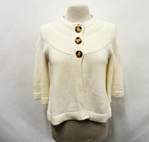 Michael Kors Women's Cream Knit Cropped Sweater Size Medium *Pilling*
