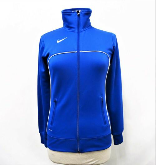 Nike Dri Fit Women's Blue Zip Up Light Jacket Size Small