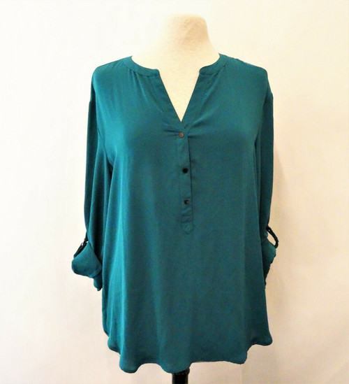 Adrianna Papell Teal Teal Blouse Size Extra Large  *New With Tags*