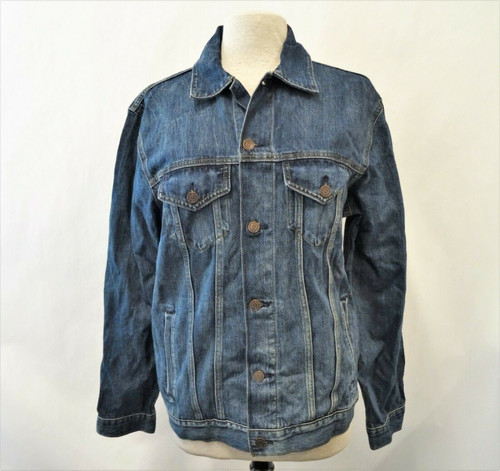 Lucky Brand Tree Hugger *New With Tags* Men's Blue Trucker Denim Jacket Size L