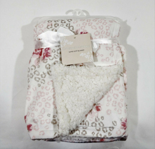 """Catherine Malandrino Super Soft Pink Bloomin Baby Blanket New With Tags 30x40"""""""