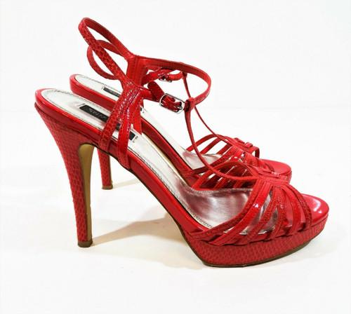 White House Black Market Pink Platform Strappy Heels Size 8.5