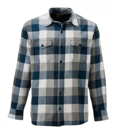 RedHead Men's Blue Raven Buffalo Plaid Flannel Long-Sleeve Shirt Size L - NEW