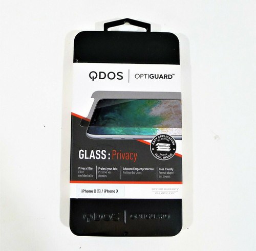 Optiguard Glass Privacy Screen Protector Rigid Tempered Iphone X, Iphone XS -NEW