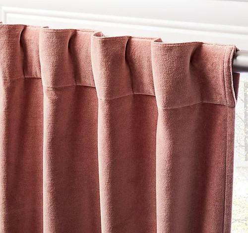 "CB2 Dusty Orchid Velvet Curtain Panel 48"" x 96""  **SEE DESCRIPTION"
