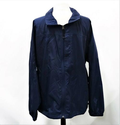 LL Bean Men's Navy Blue Windbreaker Jacket *Company Logo* Size Extra Large