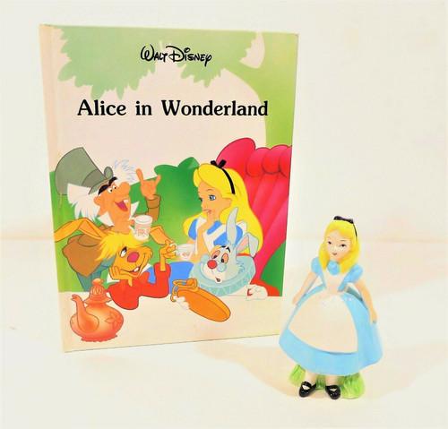 "Vintage Walt Disney Productions Japan 6""  Alice in Wonderland with 1992 Book"