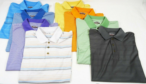 8 Men's Kirkland Signature Performance Wear Polo Tops Size Large