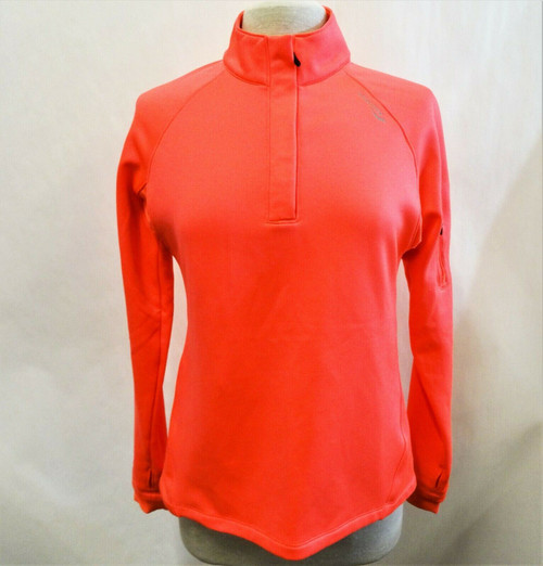 Saucony Women's Neon Coral Athletic Pullover Top Size Medium *Stain*