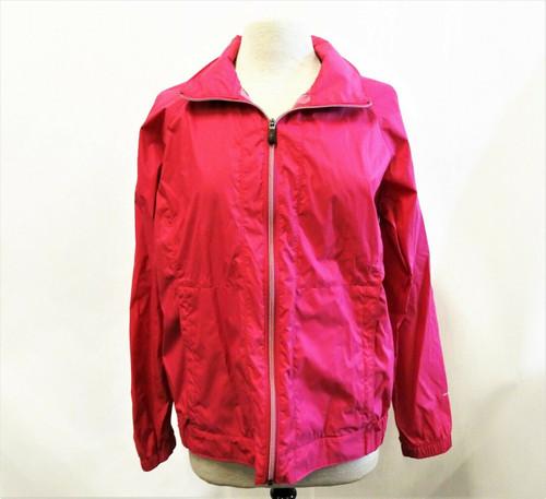 Columbia Woman's Fuscia Pink Windbreaker Zip Up Jacket Size Large