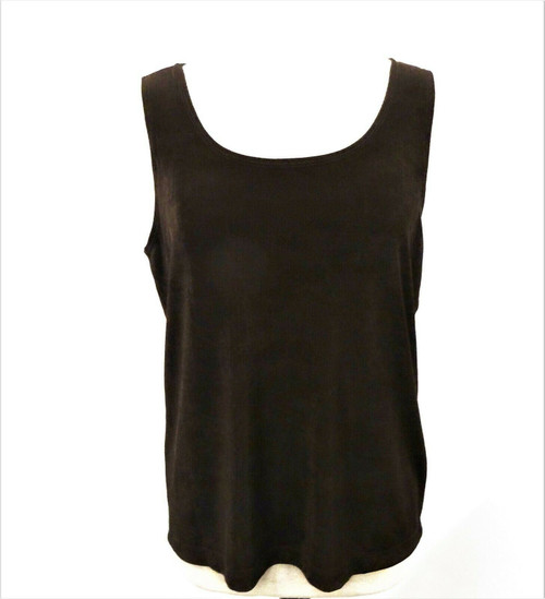 Chico's Travelers Contemporary Tank Chocolate Chip Women's Size 3 New With Tags