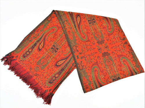 Chico's 100% Wool Luxury Jacobean Paisley Scarf *New With Tags*