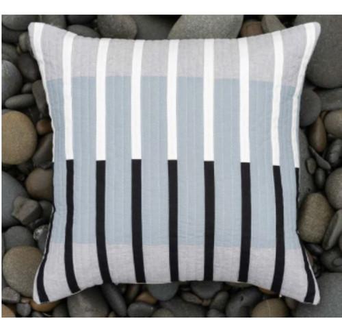 """West Elm Striped Vacilando Pillow Sham Cover Only 24"""" x 24"""" - NEW **LIGHT DIRT"""