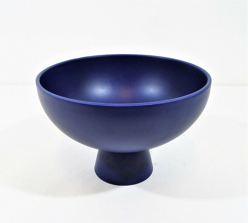 """West Elm Blue MoMA Raawii Strom Bowls Large 9"""" Dia. x 6"""" H **SMALL SCRATCH"""