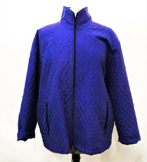 Chico's Purple Silk Quilted Jacket Size 2  *New With Tags*