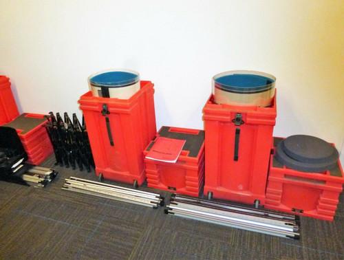 Nomadic Instand Large 4-Case Exhibit Display Setup  LOCAL PICKUP ONLY, AUSTIN TX