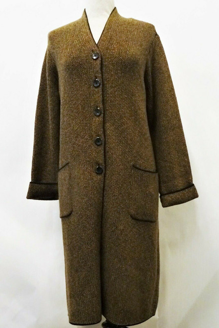J.Jill Brown Long Knit Black & Brown Sweater Original Tags Size XL