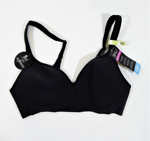 Bali Women's Black Comfort Revolution Wire Free Bra Size 34B DF3463 - NEW W TAGS