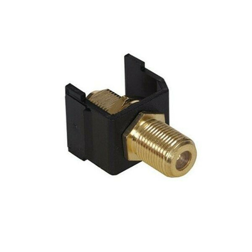 Lot Set of 15 Hubbell SFFGBK Snap-Fit Gold F-Coax Connector, Black  NEW